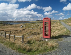 Scottish phone box