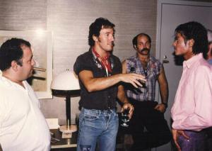 Bruce Springsteen chats to Michael Jackson