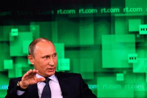 Russian President Putin speaks on state funded Russia Today