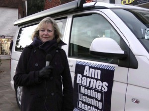 Ann Barnes with Ann Force 1