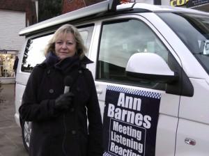 Ann Barnes with Ann Force 1