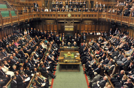The House of Commons sits for the first time in the new Parliament.  May 2010 Image: Catherine Bebbington