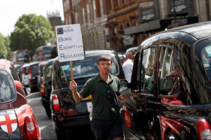 Boris Johnson Exempt uber black cabs