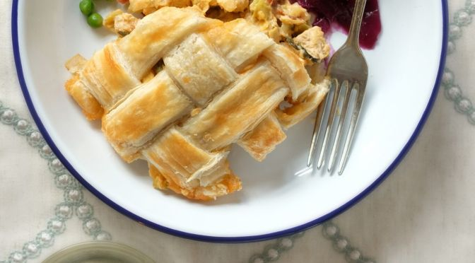 Festive Flavours: Cheesy Lattice Pie
