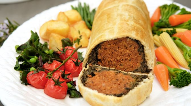 Chestnut and Butter Bean Wellington