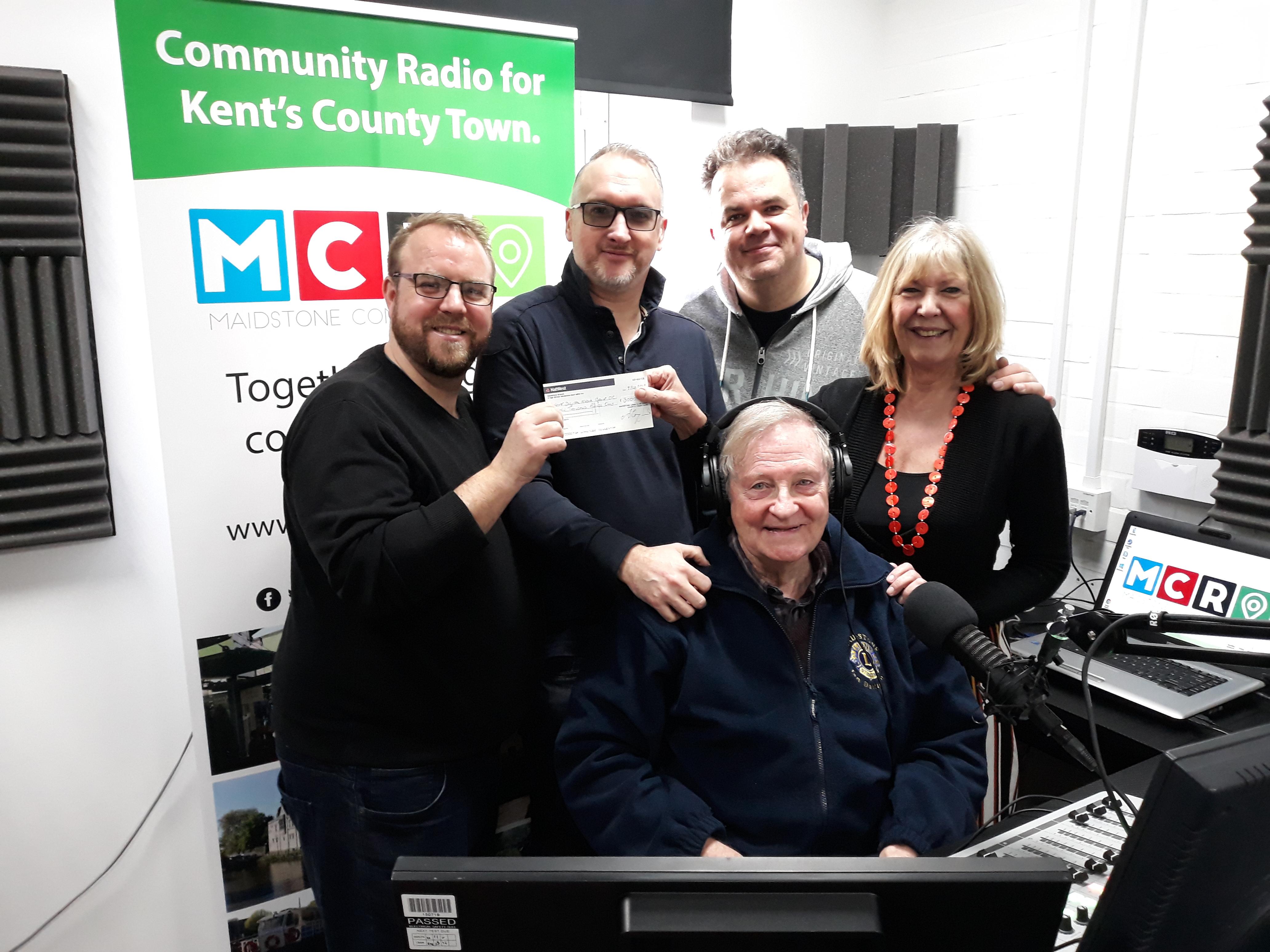 Lions Present CHQ to Maidstone Radio.jpg